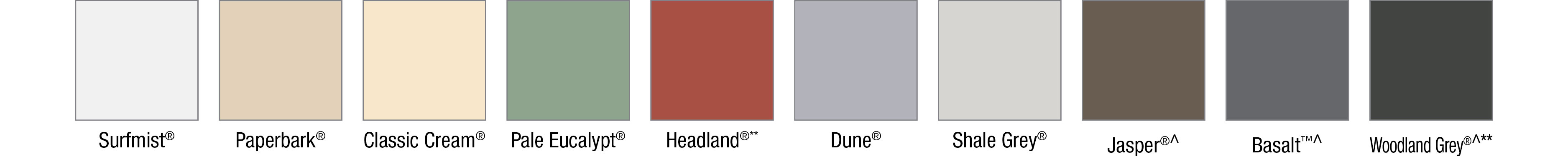 SolarSpan_InsulRoof_Colorbond_Roof_Colours