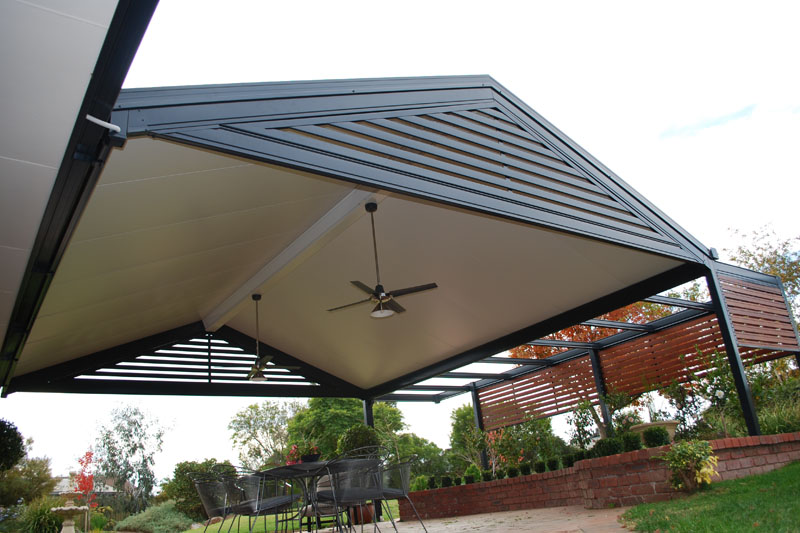 Solarspan patios and pergolas design ideas builders for Deck roof plans